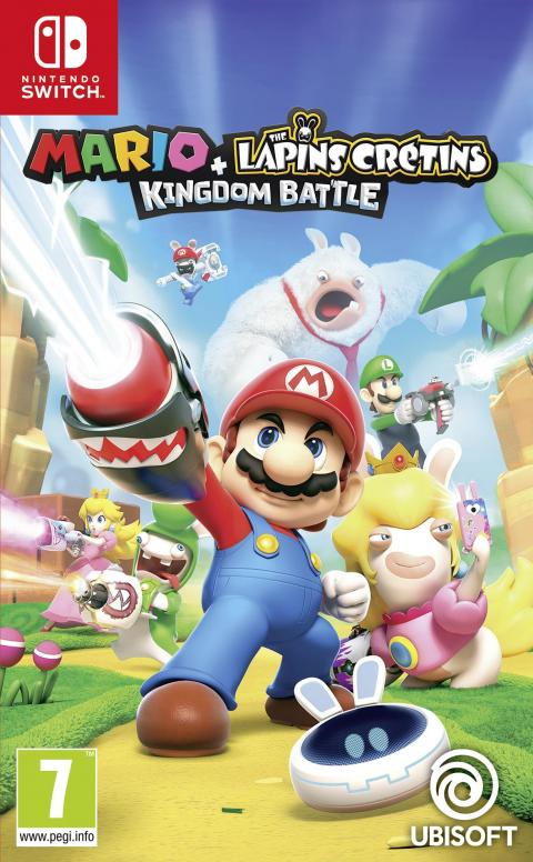 Jaquette Mario + The Lapins Crétins Kingdom Battle