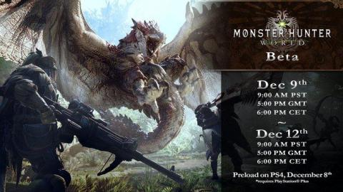 Monster Hunter : World détaille sa bêta