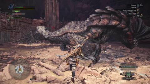 Un combat en arène dans Monster Hunter : World