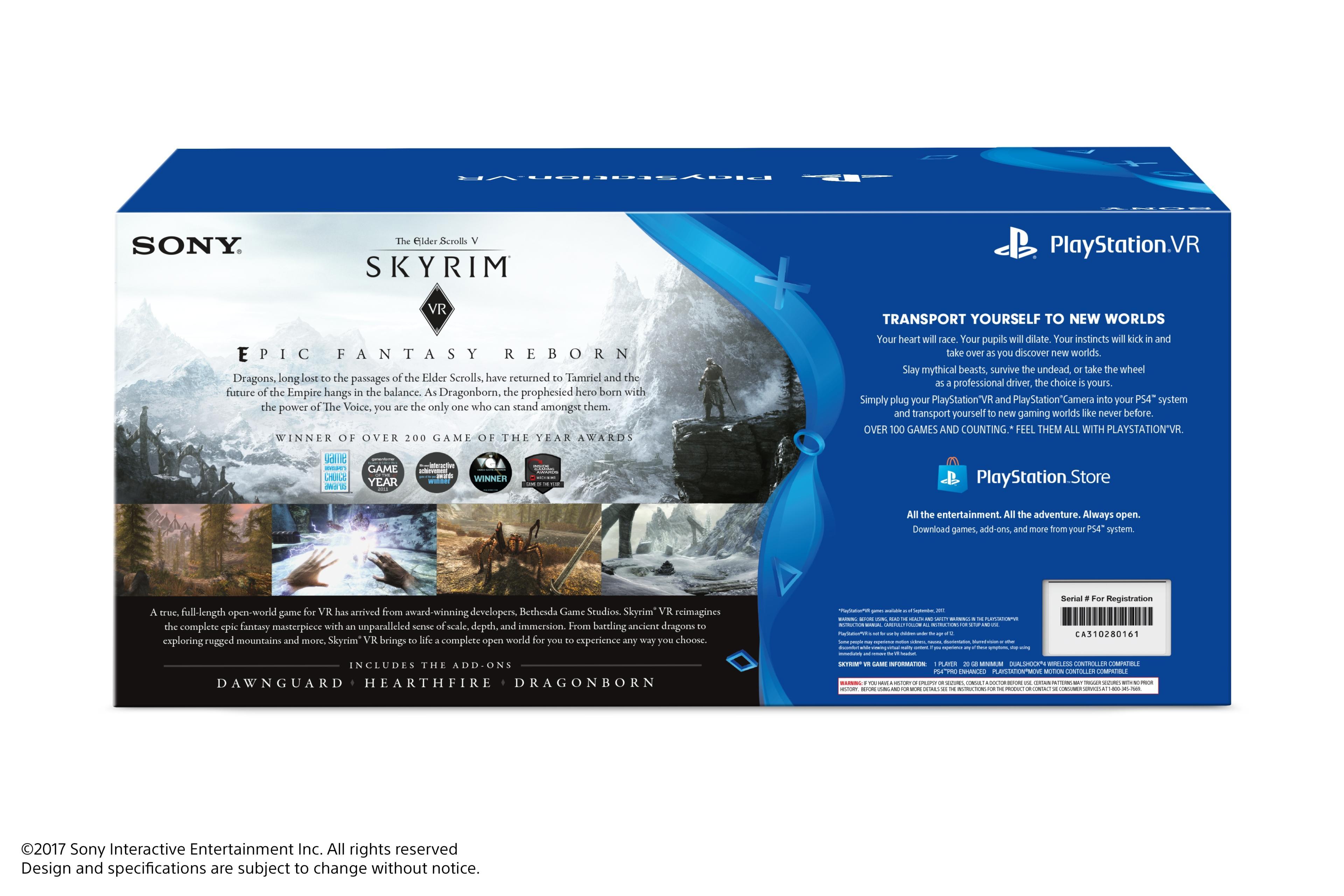 Des bundles Skyrim VR annoncés en Amérique du nord — PlayStation VR