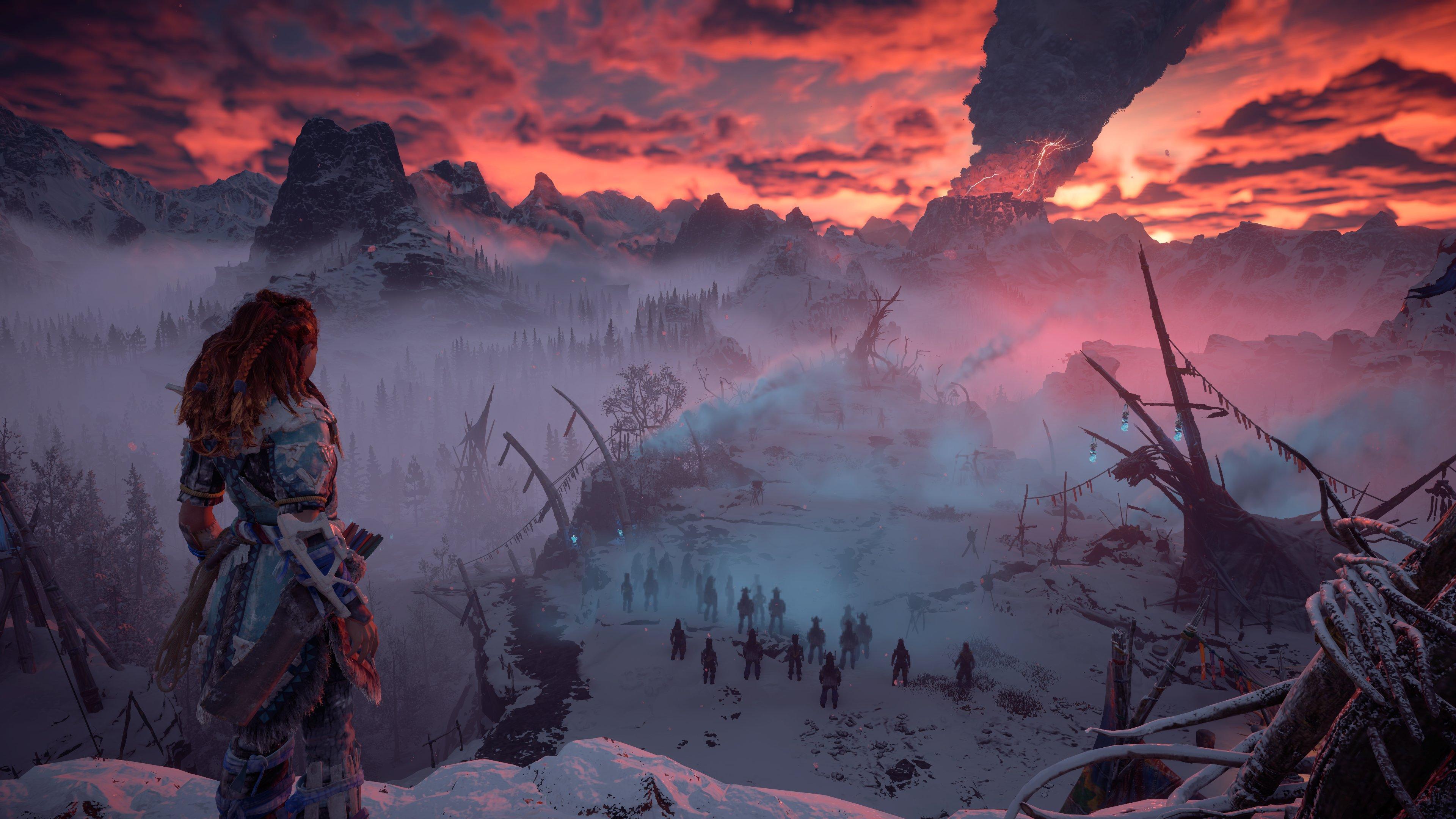 Zero Dawn 'The Frozen Wilds' s'offre une vidéo de gameplay — Horizon