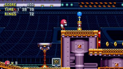 Knuckles in Flying Battery Zone